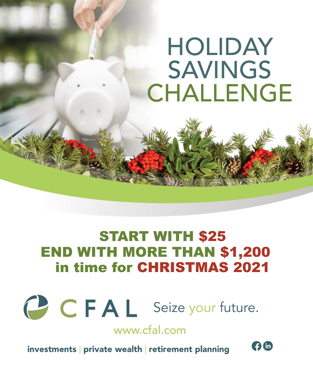 SAVE with the CFAL Holiday Savings Challenge 2021