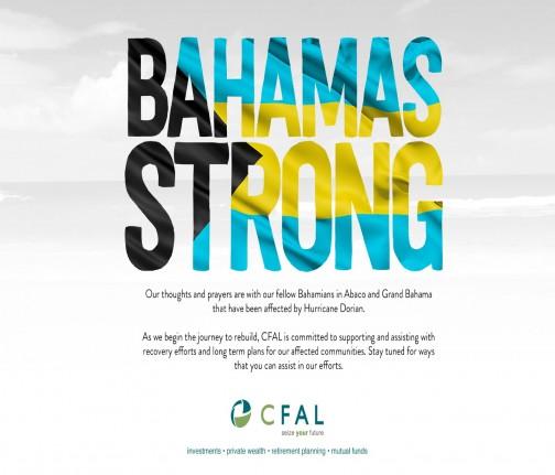 CFAL Hurricane Dorian Relief Efforts