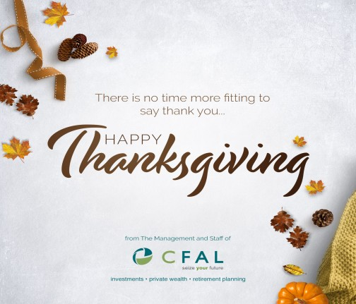 Happy Thanksgiving from CFAL