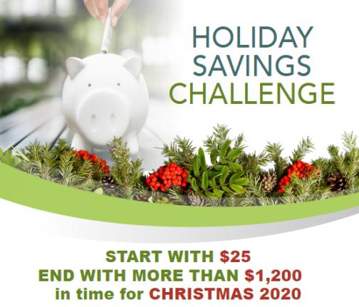 CFAL Holiday Savings Challenge 2020