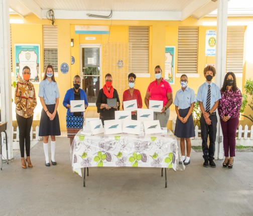 CFAL Partners with St. Andrew's Prefects to Donate Tablets to Columbus Primary